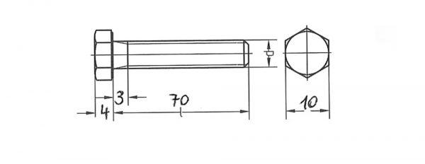 Sechskantschraube SW 10 M6