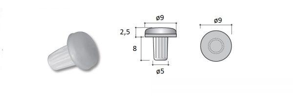 Türanschlagdämpfer zum Einschlagen / Menge 1 = 1 VP (100 STK)