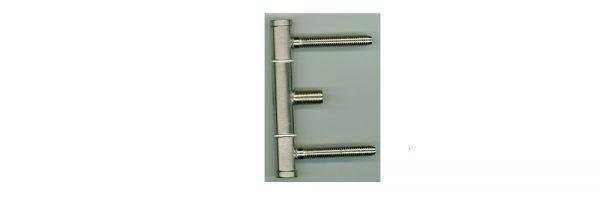 Einbohrband ø15 / 3-teilig für Metallzarge