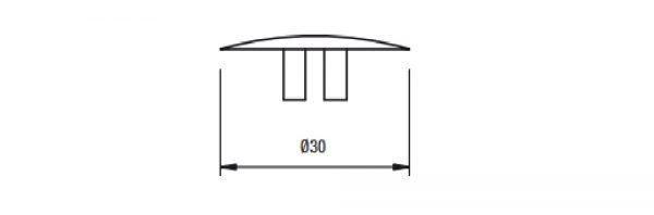 Deckkappe für Exzenter ø25