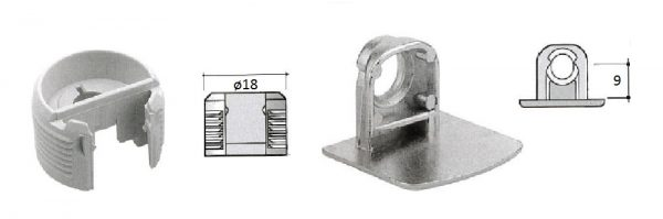 Möbelverbinder ø18 / 2-tlg ohne Verriegelung