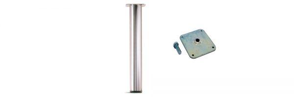 Tischfuß INOX ø60 mit Höhenversteller / Befestigung 5