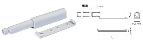 Druckfederschnapper einstellbar / mit Magnet