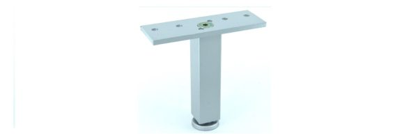 Möbelfuß Formrohr 25x25 mm / Stahl