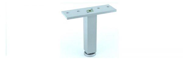 Möbelfuß Formrohr 25x25 mm / INOX