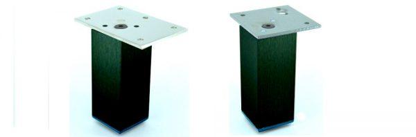 Möbelfuß Formrohr 40x40 mm / schwarz RAL 9005 matt