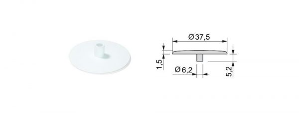 Abdeckkappen ø37,5 / 1,5 mm