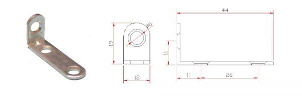 Winkel 42x18x12 mm
