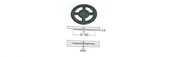 Drehteller 1-teilig ø160 / 50 kg
