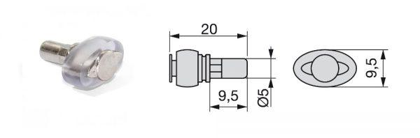 Glasfachträger / ø5