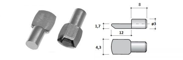 Steck-Fachträger flache Auflagefläche / ø3
