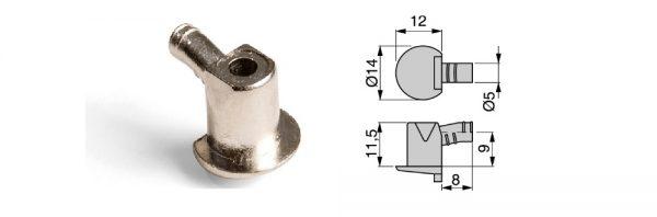 Fachträger aus Stahl / ø5 / Menge 1 = 1 VP (100 STK)