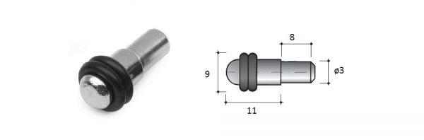 Glasfachträger aus Stahl / ø3 / Menge 1 = 1 VP (100 STK)