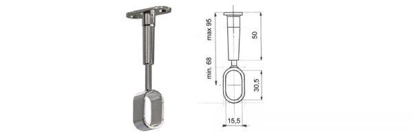 Rohrträger für Rohr 30x15 mm