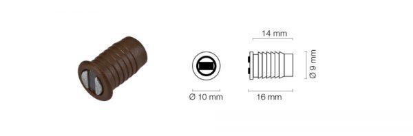 Mini-Einbohr-Magnetschnapper ø8