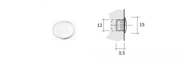 Abdeckkappen Kunststoff ø12