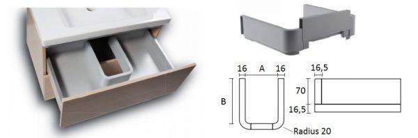 Abfluss-/Siphonverkleidung für Unterbau