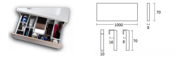 Unterteilungsprofil für Abfluss-/Siphonverkleidung