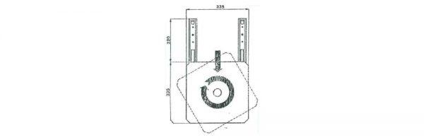 TV-Teilauszug 200 mm / Tragkraft 90 kg