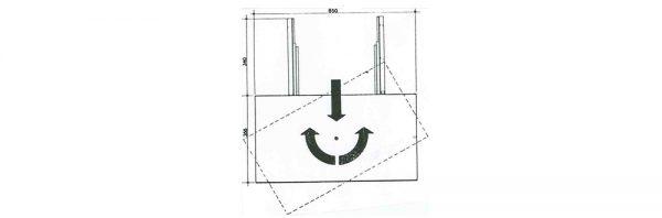 TV-Vollauszug 390 mm / Tragkraft 70 kg