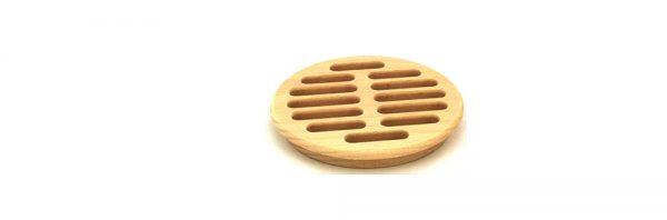 Lüftungsgitter aus Holz / rund ø80
