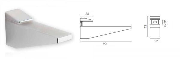 Bordhalter für Verstellbereich 4-20 mm