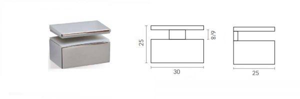 Bordhalter für Verstellbereich 6-8 mm