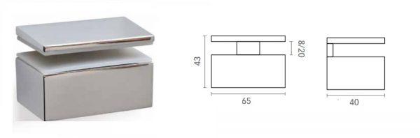 Bordhalter für Verstellbereich 8-20 mm
