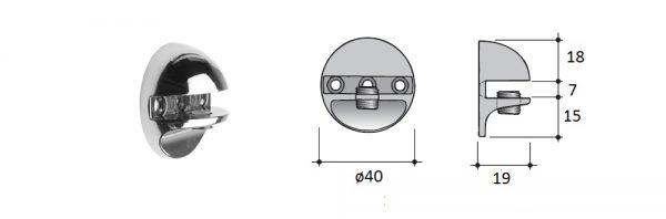 Glasbord-Klemmträger ø40