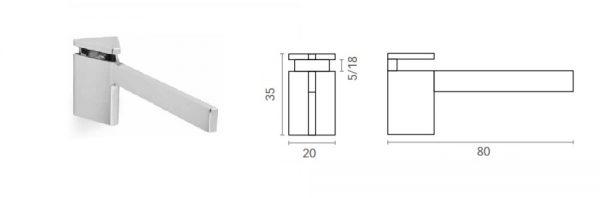 Bordhalter für Verstellbereich 5-18 mm