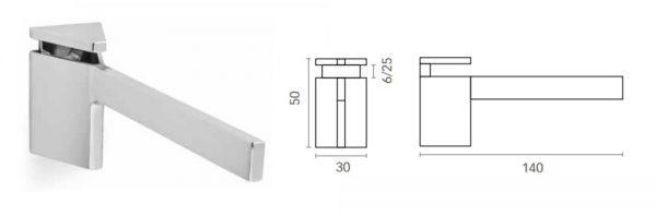 Bordhalter für Verstellbereich 6-25 mm