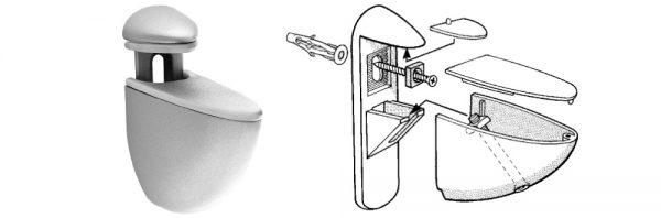 Bordhalter für Verstellbereich 4-40 mm