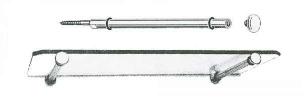 Glastablarträger mit Kappe / 250 mm