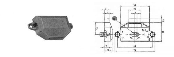 Drehstangenschloss / Dornmaß 25 mm