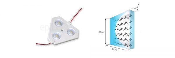 LED Kette für Lichtkasten