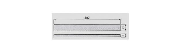 Lichtleiste 300 mm / 21x9 mm