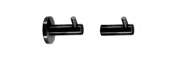 Mantelhaken aus INOX / schwarz RAL 9005 matt