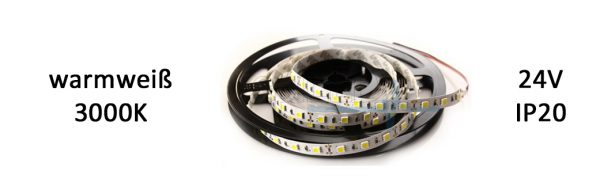 LED Strip Premium 24V IP20 warmweiß / 9,6 W/m
