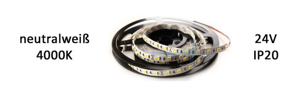 LED Strip Premium 24V IP20 neutralweiß / 19,2 W/m