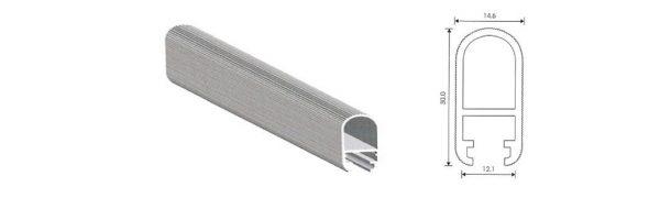 Ovalrohr Aluminium 30x15 mm