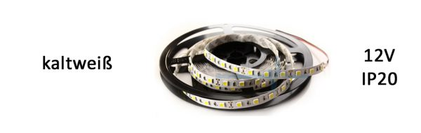 LED Strip Flex IP20 kaltweiß / 9,6 W/m