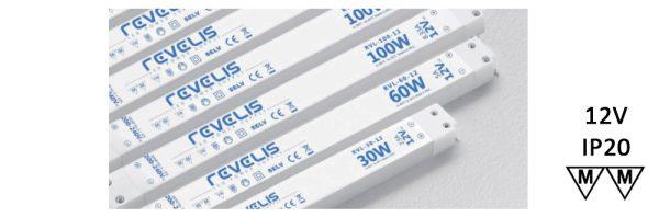 LED Netzgerät / 230V / 12V / flach / Andenendhülsen