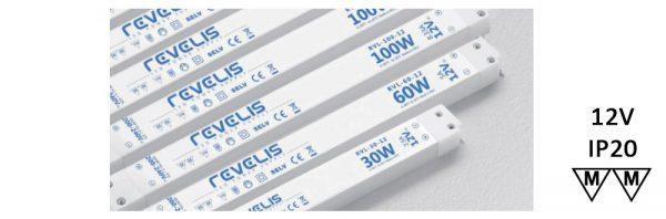 LED Netzgerät / 230V / 12V / flach / HE-Kupplung schwarz