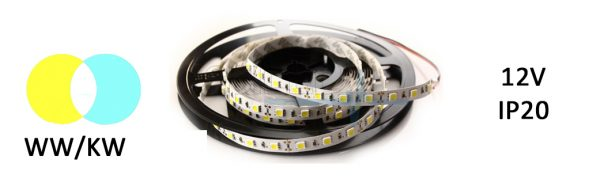 LED Strip Flex IP 20 WW/KW