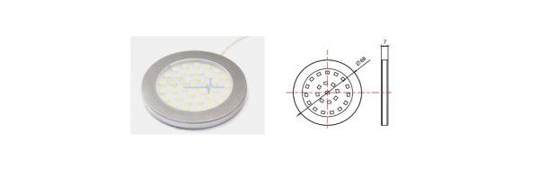 LED Aufbauleuchte Intro / 12V / 3W