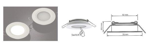 LED Einbauleuchte 12V / 3W