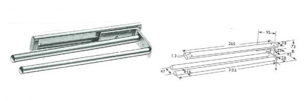 Handtuchhalter 2-armig / 320 mm