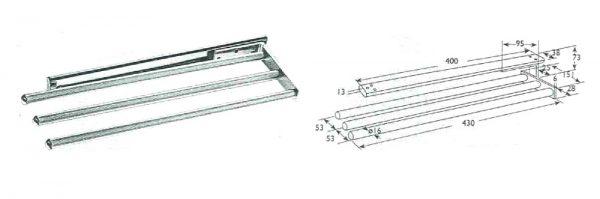 Handtuchhalter 3-armig / 450 mm